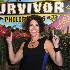 Denise after being declared the Sole Survivor.