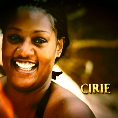 Cirie's photo in the opening intro.