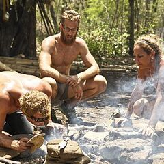 Tyler making fire on the Masaya tribe.