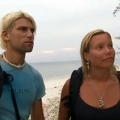 Mia and Vincent after being voted out 5-3 at Tribal Council.
