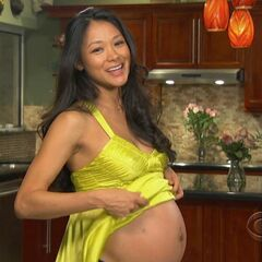 Brenda announcing her pregnancy at the <a href=