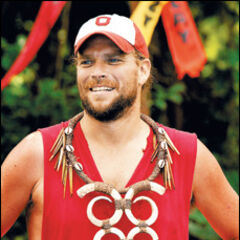 Chris winning the Day 33 Immunity Challenge.
