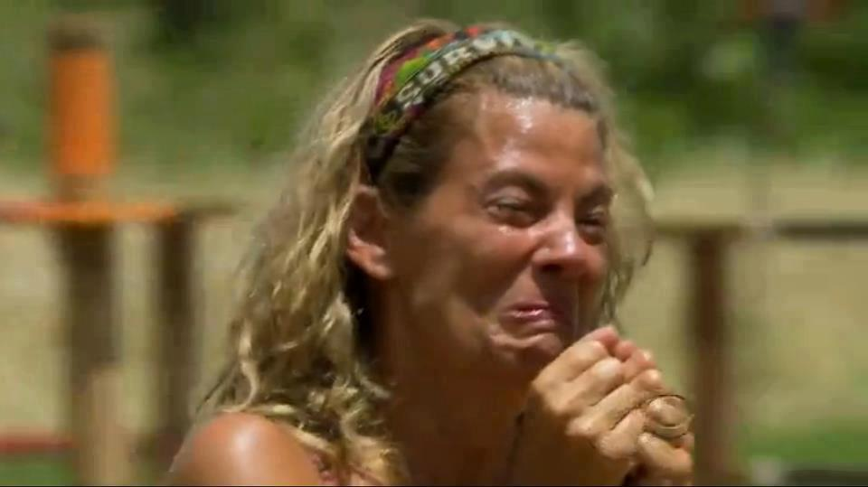 Image result for survivor lisa whelchel sobbing at loved ones visit