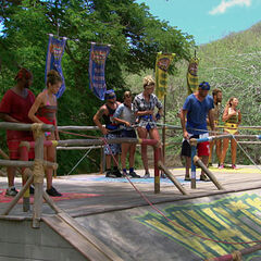 Kelly with Escameca at the fourth Immunity Challenge.
