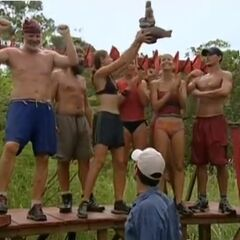 Chapera won the fifth Immunity Challenge.