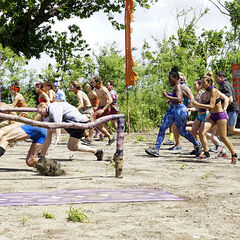 The tribes race for immunity.
