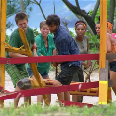 The new Aparri in the first part of the first Immunity Challenge.