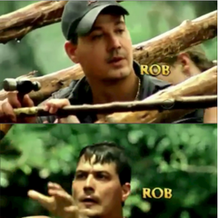 Rob's opening shots in <i>Redemption Island</i>.