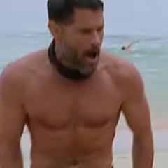 Terry celebrates after winning Immunity