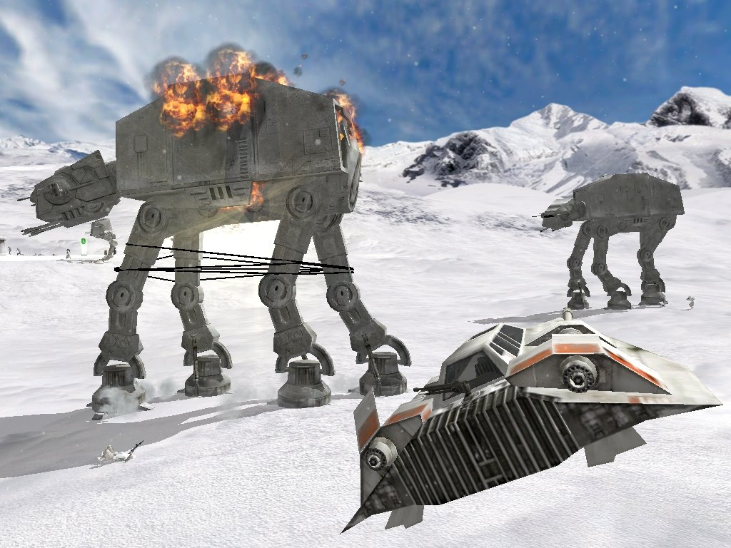 Hoth Battle Wallpaper During The Battle of Hoth