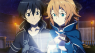 Philia and Kirito navigating the Hollow Area