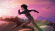 Kirito runs to the next town