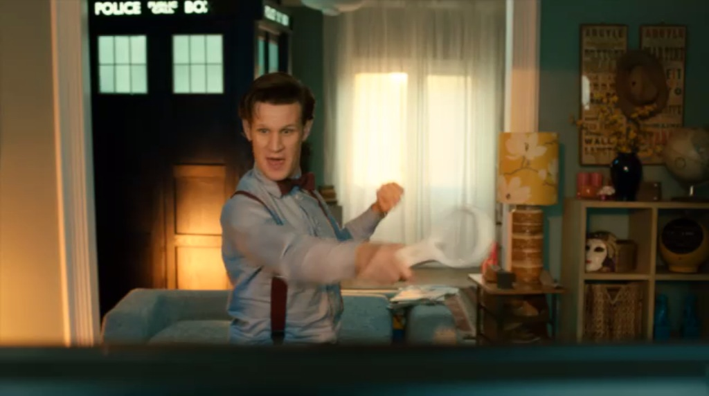 The Doctor playing Wii