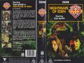 Nightmare of Eden VHS Australian folded out cover