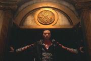Chang Lee enters TARDIS