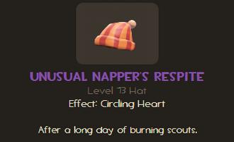 Napper's Respite unusual info TF2