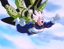 Cell defeats Vegeta