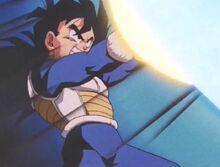 Gohan takes on Goku's blast