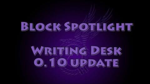 Block Spotlight - Writing Desk updated
