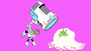 Beast Boy gets tofu meatballs