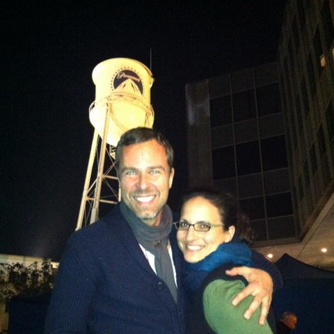 Teen Wolf Behind the Scenes JR Bourne with producer at Paramount