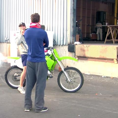 Teen Wolf Behind the Scenes Hoechlin Dirt Bike 1