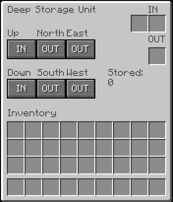 Deep Storage Unit GUI