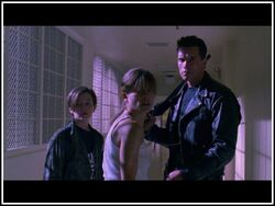 John Connor with Sarah and T-101