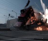 Dickey Beer performing stunts in Terminator 3