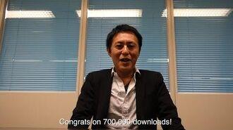 Terra Battle Download Starter 700,000 Downloads Message from Naoto Oshima