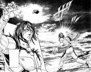 Alex throwing a rock at the Terraformar