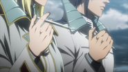 Akari and Michelle preparing to inject themselves