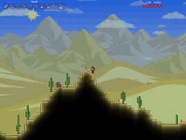 Terraria Desert Background Scenery Landscape