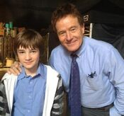 Bryan Cranston and Cj Adams first photo on set