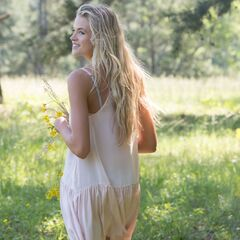 Callie admiring the Meadow.