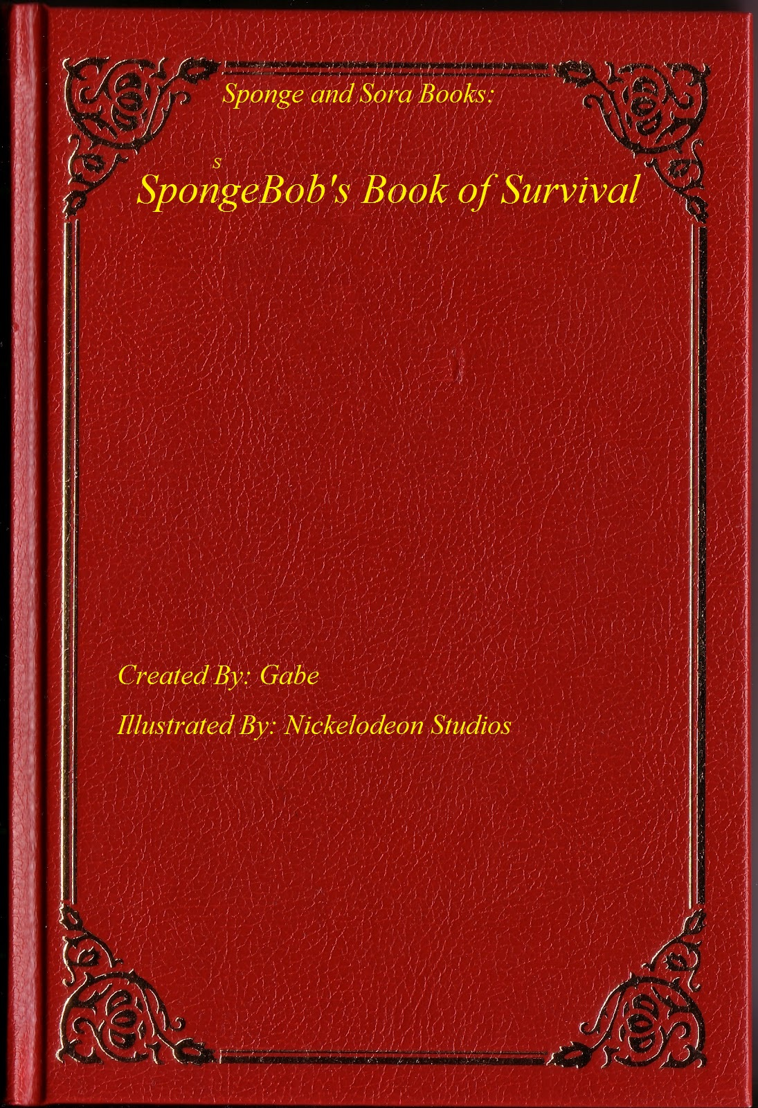 Classic Book Cover Template : Image blank book cover g the sponge and sorapedia