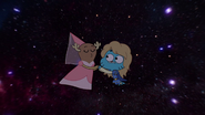 Penny Fitzgerald and Gumball Watterson at the schoolplay on The Shell 16