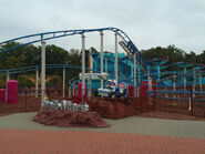 The Backyardigans Mission to Mars Roller Coaster at Movie Park Germany Wide View