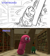 The Backyardigans 50 Foot Storyboard-Previsualization Comparison 7 Sherman the Worman