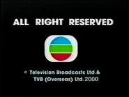 2000 - TVBI Company Limited Copyright Screen in English