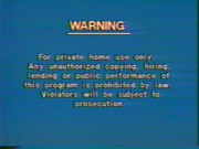 CBS-FOX Video Australian Piracy Warning (1989) VHS spine