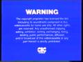 CIC Video Warning (1980)