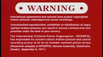 Sony's Warning Screens (2005-)