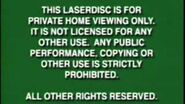 Walt Disney Warning Screen 1997-1999 Laserdisc Version