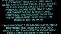 20th Century Fox Warning Scroll 2005 (S2)