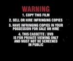 Warning scroll sony 2000's 2