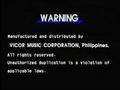 Peak Music Warning Screen
