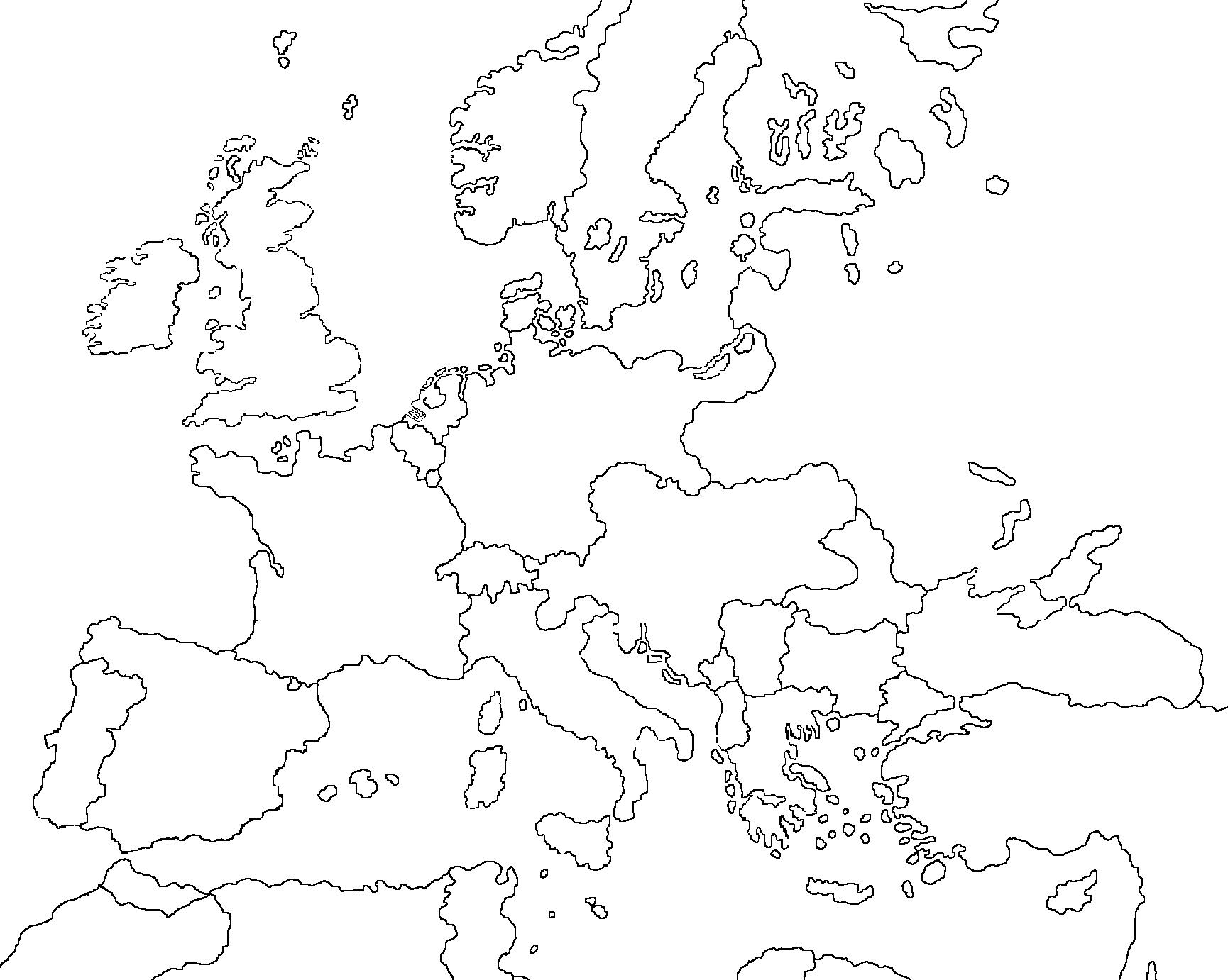 blank map of europe 2016 25 Luxury Printable Map Of Europe 2016