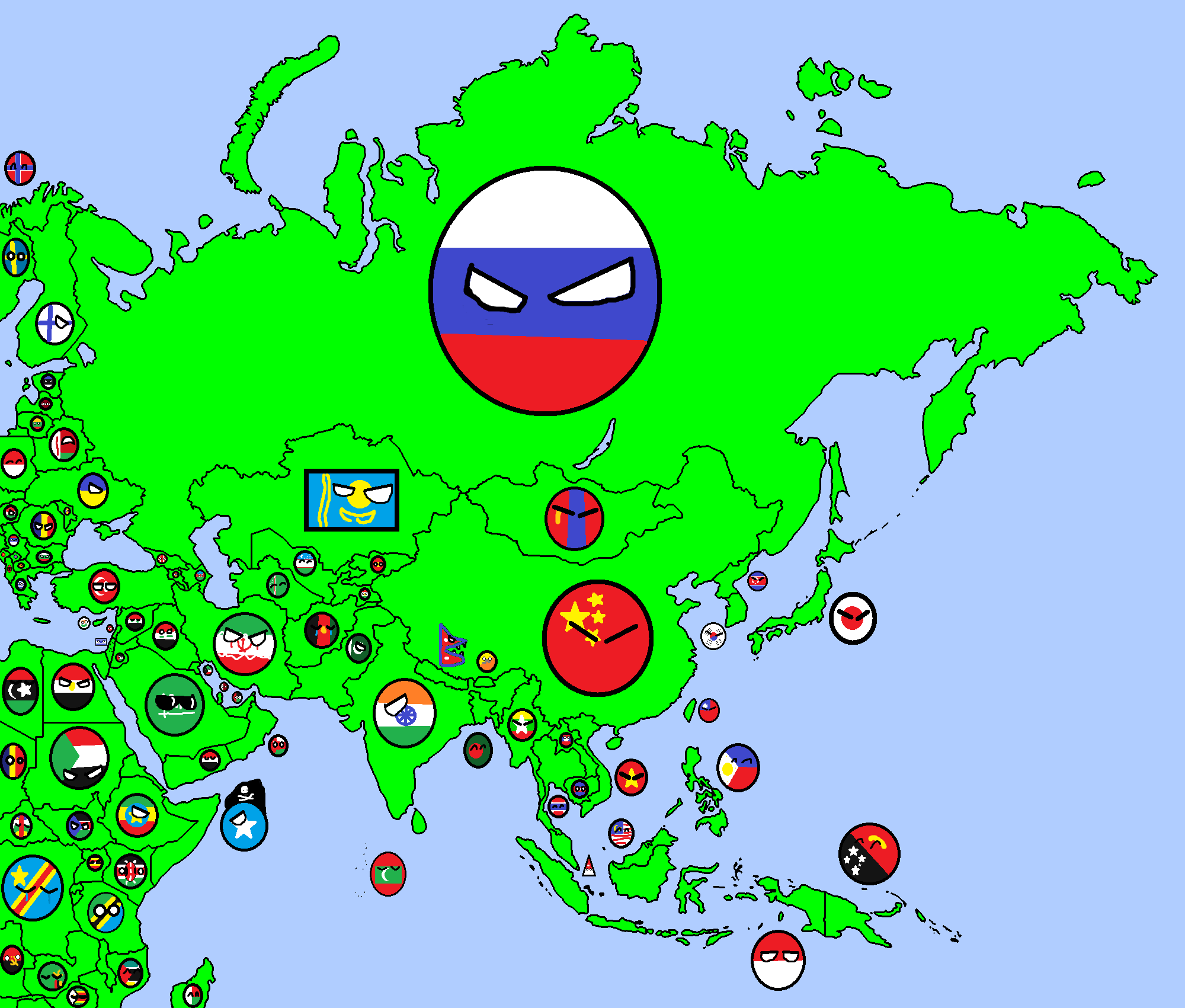 Image Map of Asia in Countryballspng – Full Map of Asia