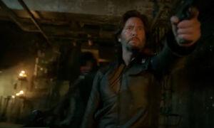 S3 episode 15 - Kane pointing a gun